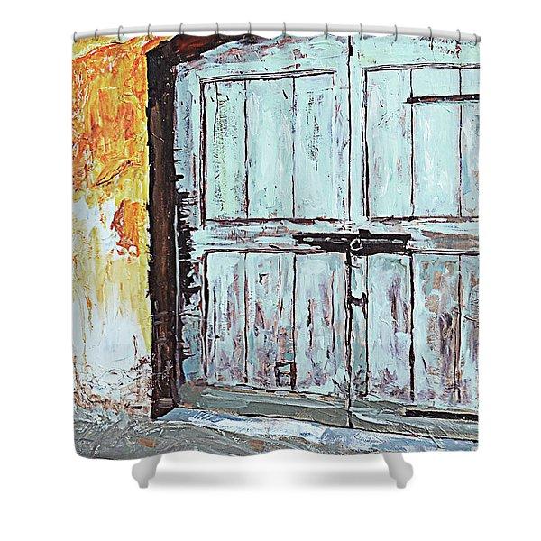 Switzerland Mint Door Shower Curtain