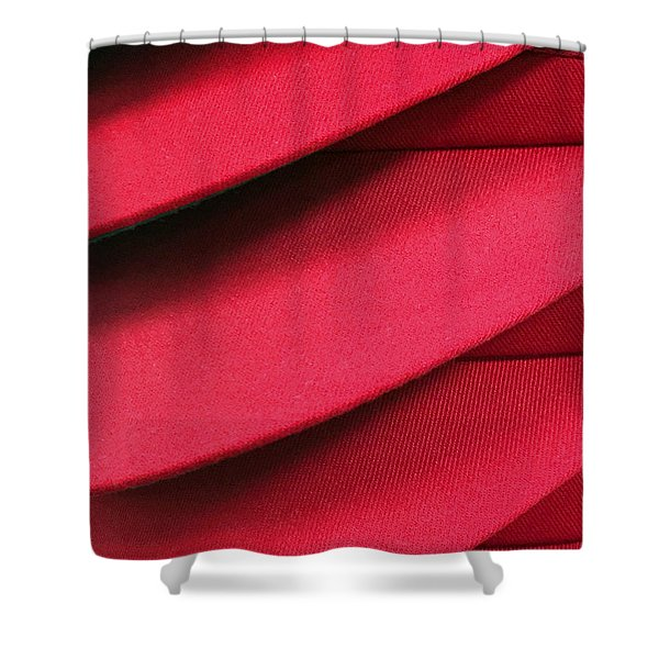 Swooshes And Shadows Shower Curtain