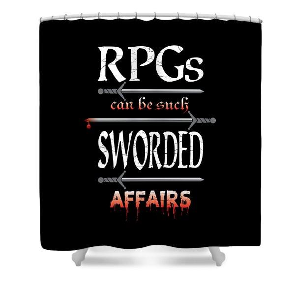 Sworded Affairs Shower Curtain