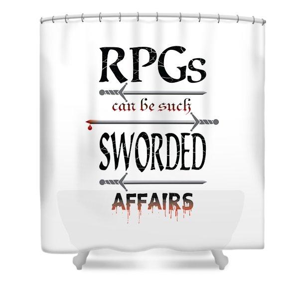 Sworded Affairs Light Shower Curtain
