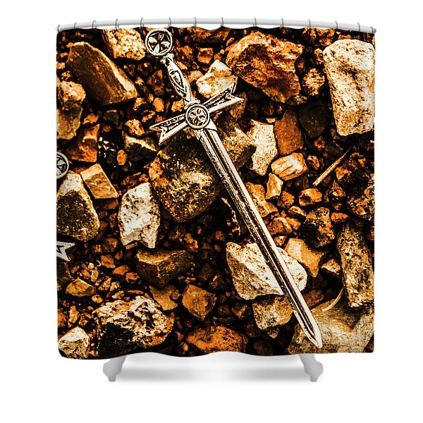 Swords And Legends Shower Curtain