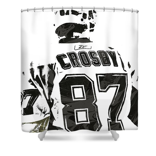Sydney Crosby Pittsburgh Penguins Pixel Art 2 Shower Curtain