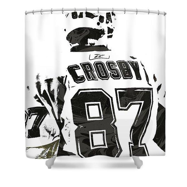 Sydney Crosby Pittsburgh Penguins Pixel Art 2 Shower Curtain