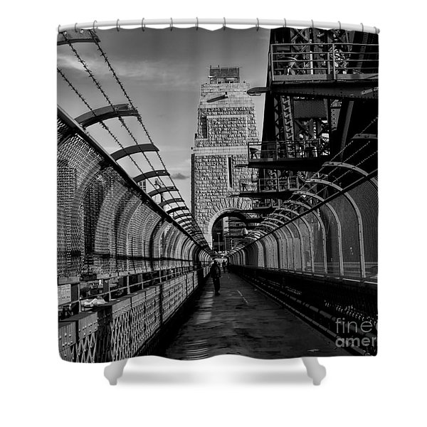 Sydney Harbor Bridge Bw Shower Curtain