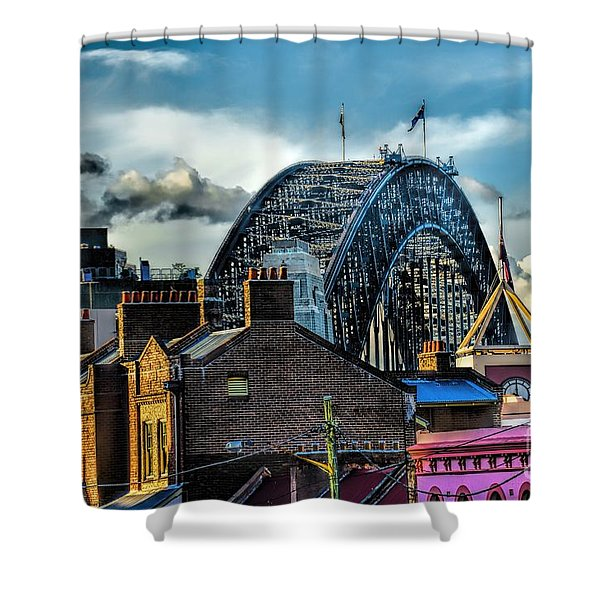 Sydney Harbor Bridge Shower Curtain