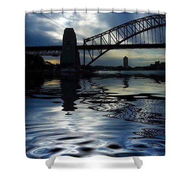 Sydney Harbour Bridge Reflection Shower Curtain