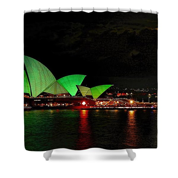 Sydney Opera House Vivid Festival Australia Shower Curtain