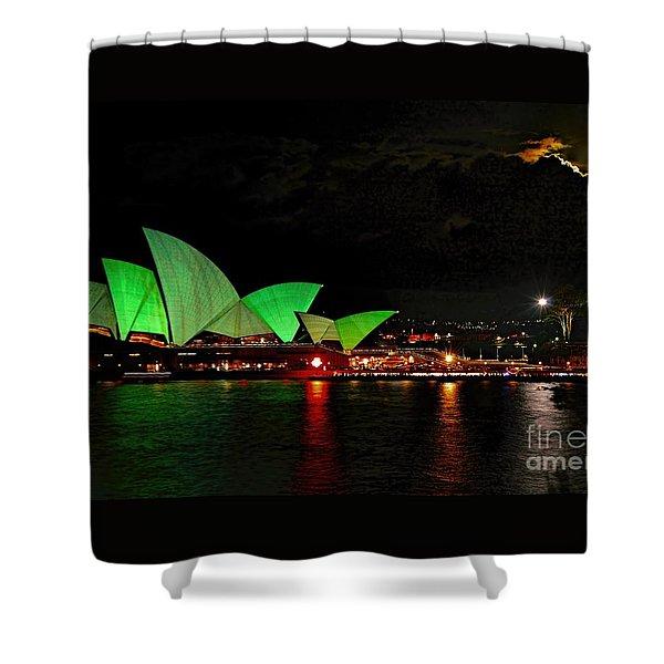 Sydney Opera House Vivid Festival Australia Shower Curtain