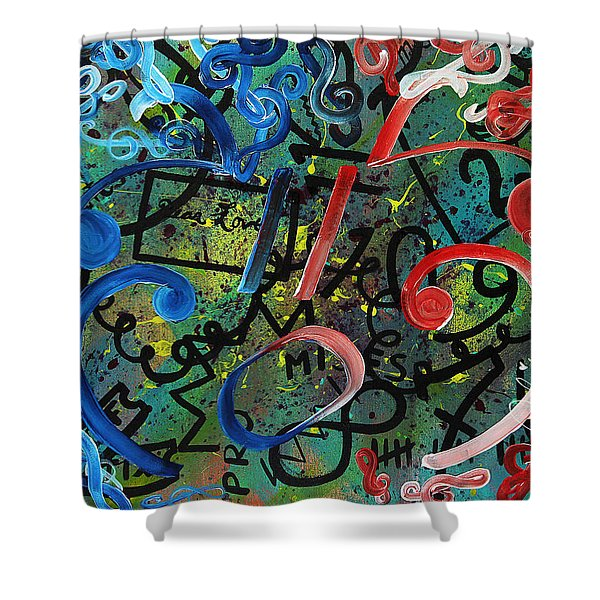 Sympathy Symphony Shower Curtain
