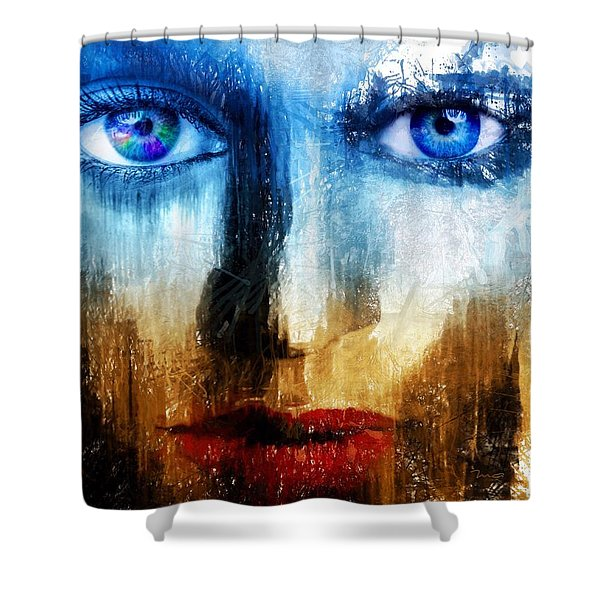 Shower Curtain featuring the painting Synaptic Awakening by Mark Taylor