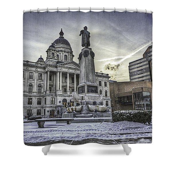 Syracuse Courthouse Shower Curtain