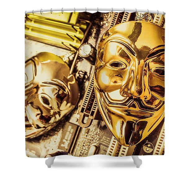 Systems Of Anon Shower Curtain