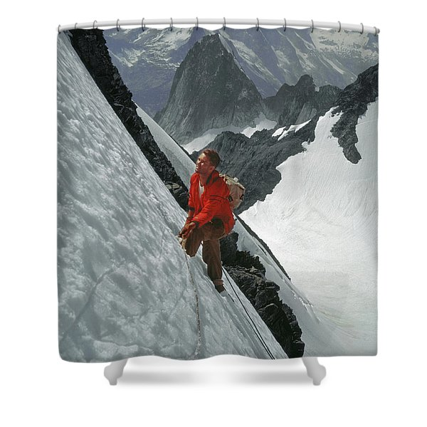 T-202707 Eric Bjornstad On Howser Peak Shower Curtain