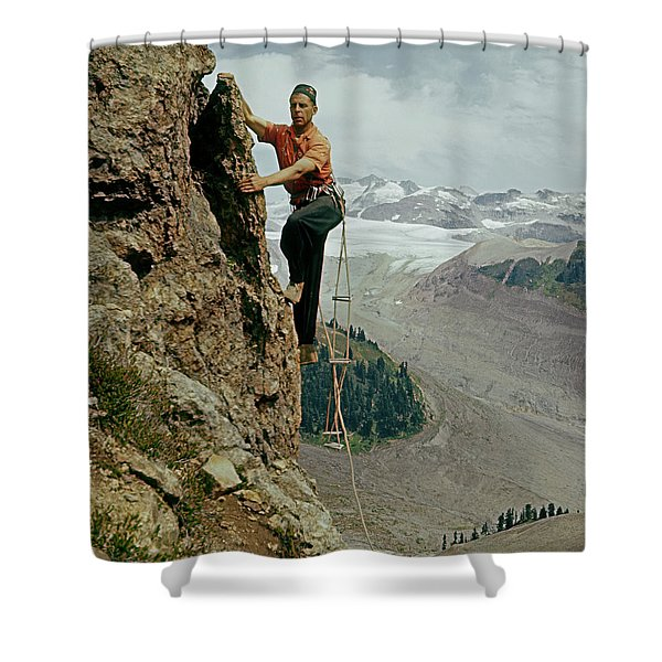 T-902901 Fred Beckey Climbing Shower Curtain