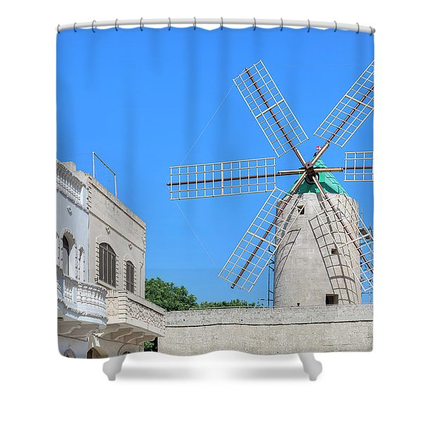 Ta Kola Windmill - Gozo Shower Curtain