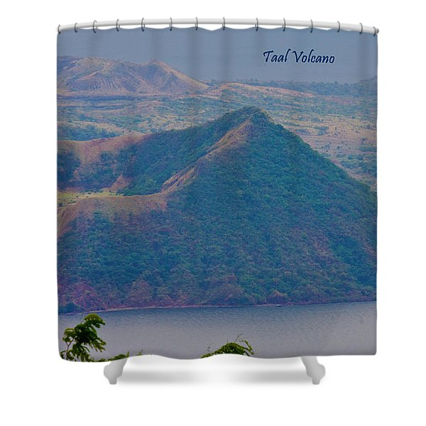 Taal Volcano Shower Curtain