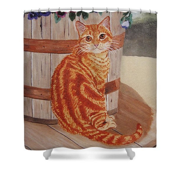 Tabby Cat Shower Curtain
