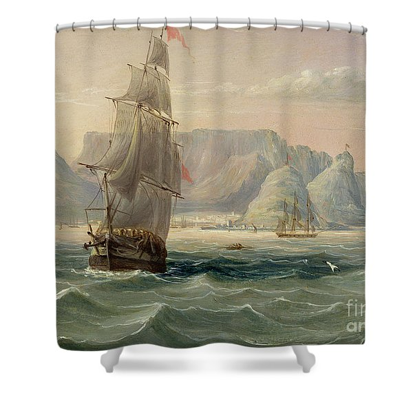 Table Mountain, Cape Town, From The Sea Shower Curtain