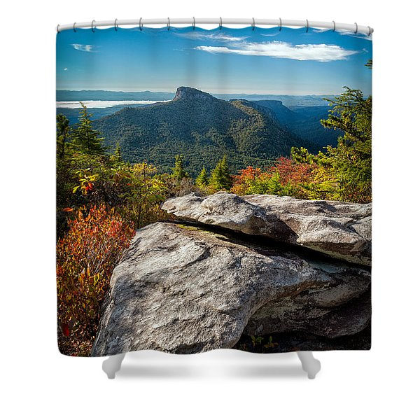 Table Rock Fall Morning Shower Curtain