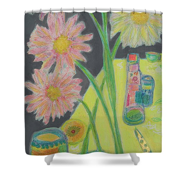 Table Scape Shower Curtain