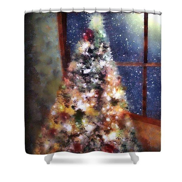 Tabletop Tannenbaum Shower Curtain