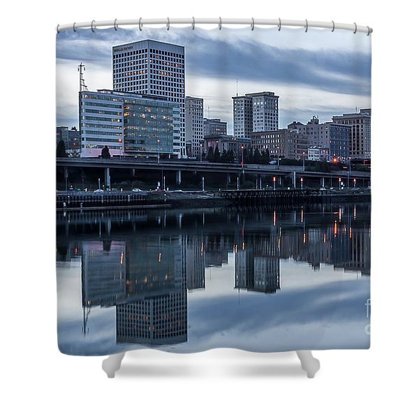 Tacoma Waterfront,washington Shower Curtain