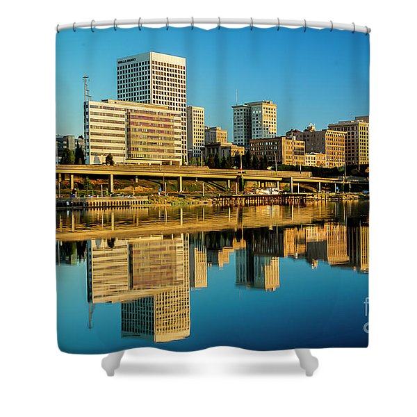 Tacoma's Waterfront,washington Shower Curtain