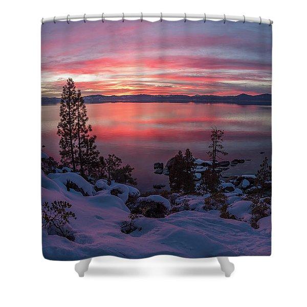 Tahhhhhoe Sunset Shower Curtain