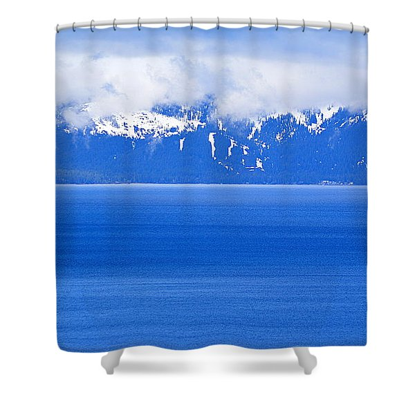 Tahoe Blue Shower Curtain