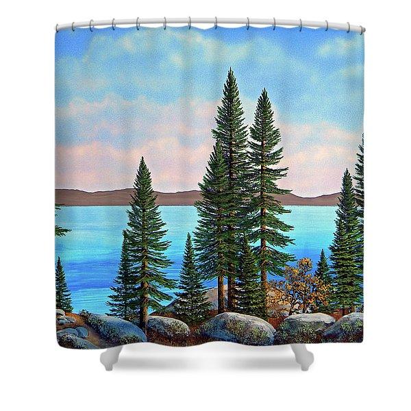 Tahoe Shore Shower Curtain