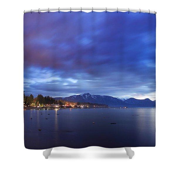 Tahoe Twilight Shower Curtain