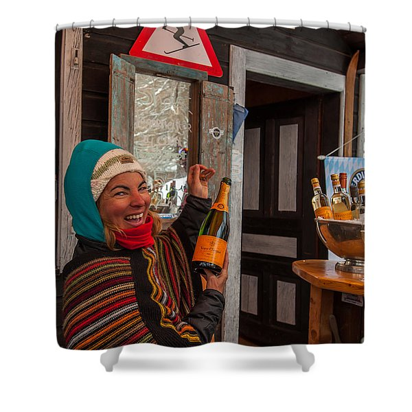 Taimi In Zermatt Switzerland Shower Curtain