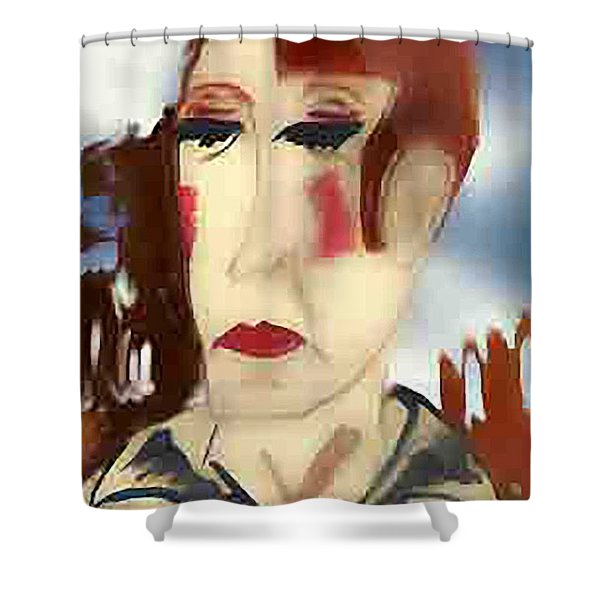 Tainted Glass Shower Curtain
