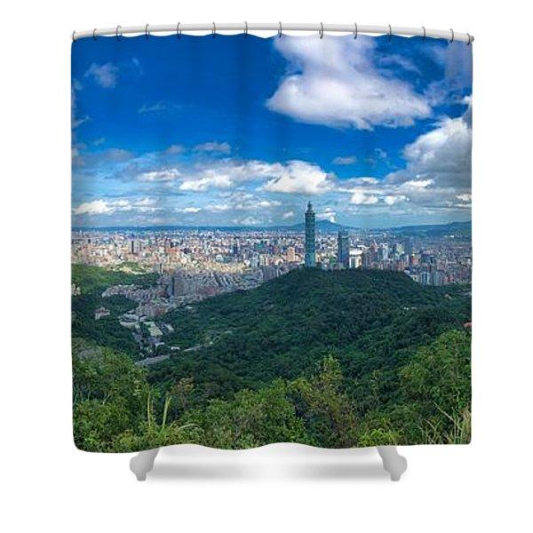 Taipei Panorama Shower Curtain