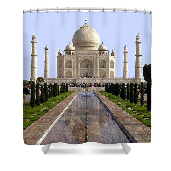 The Taj Mahal - Grand Canyon Mash-up Shower Curtain