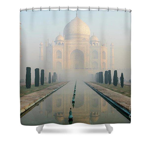 Taj Mahal At Sunrise 02 Shower Curtain