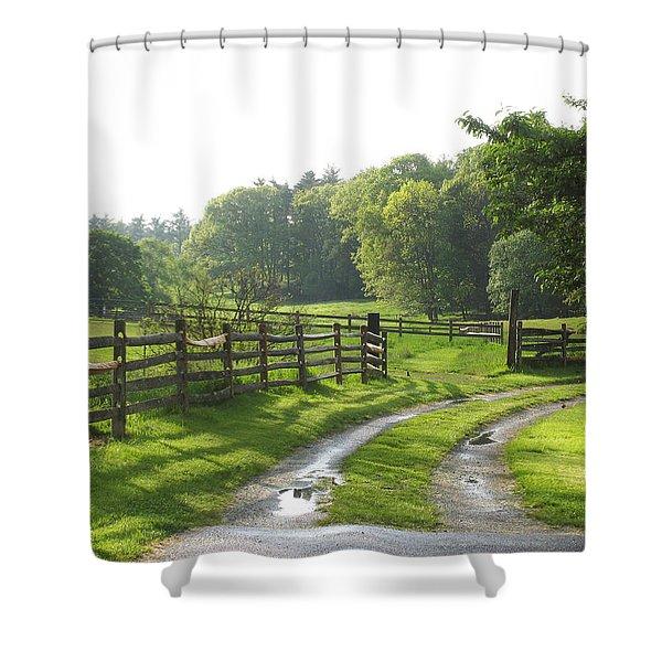 Take A Walk Shower Curtain
