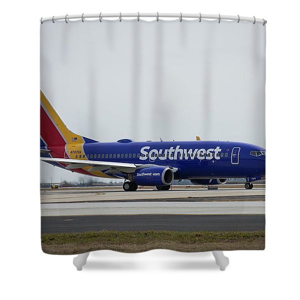 Take Off Southwest Airlines N7878a Hartsfield-jackson Atlanta International Airport Art Shower Curtain