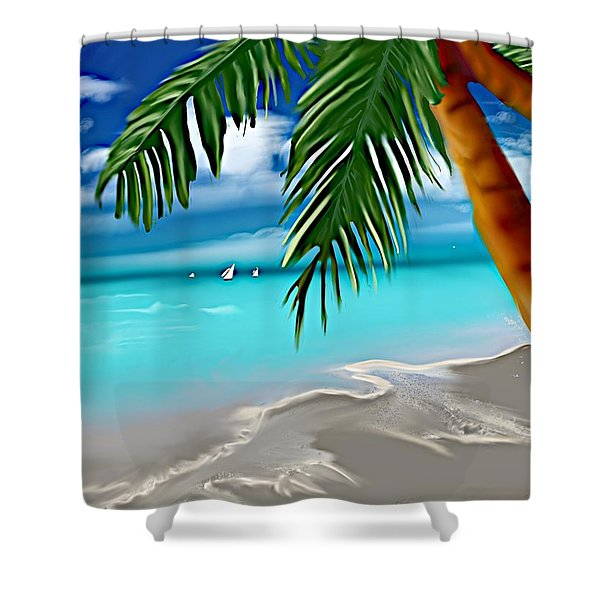 Takemeaway Beach Shower Curtain