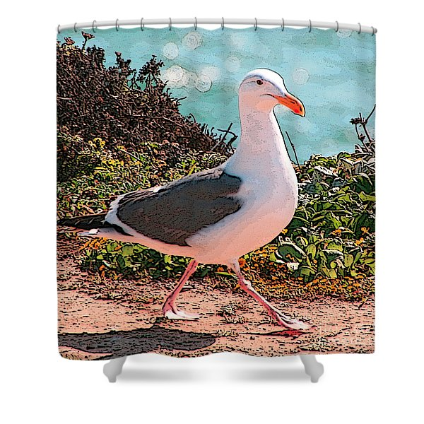Taking A Stroll Shower Curtain