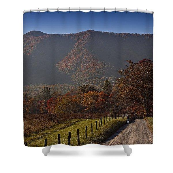 Taking A Walk Down Sparks Lane Shower Curtain