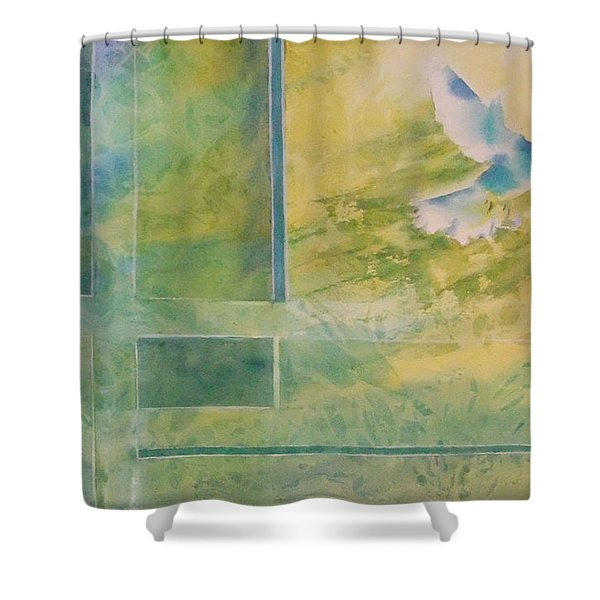 Taking Flight To The Light Shower Curtain