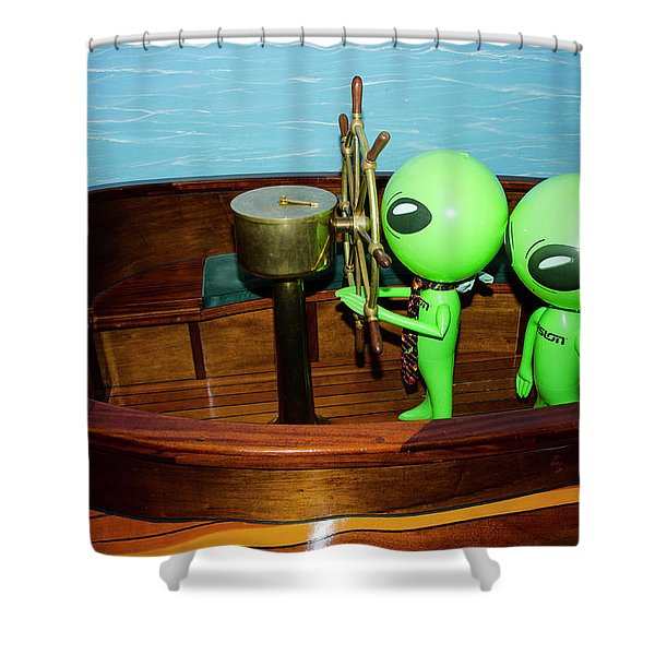 Taking The Helm Shower Curtain