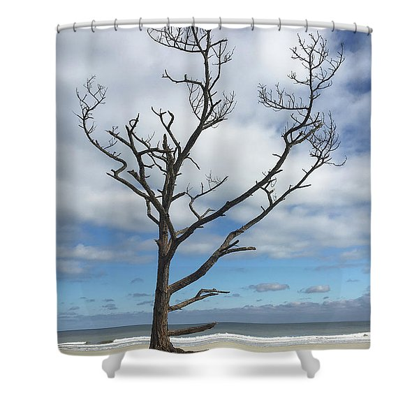 Talbot Stilt Tree #1 Shower Curtain