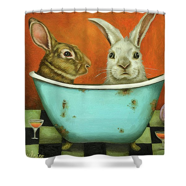 Tale Of Two Bunnies Shower Curtain