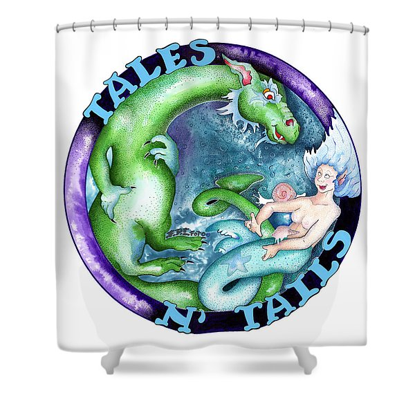 Real Fake News Foto, Tales N Tails 1 Shower Curtain