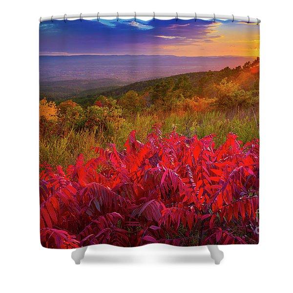 Talimena Evening Shower Curtain