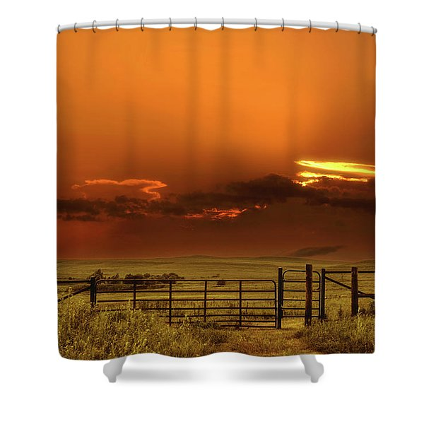 Tall Grass Prairie Shower Curtain