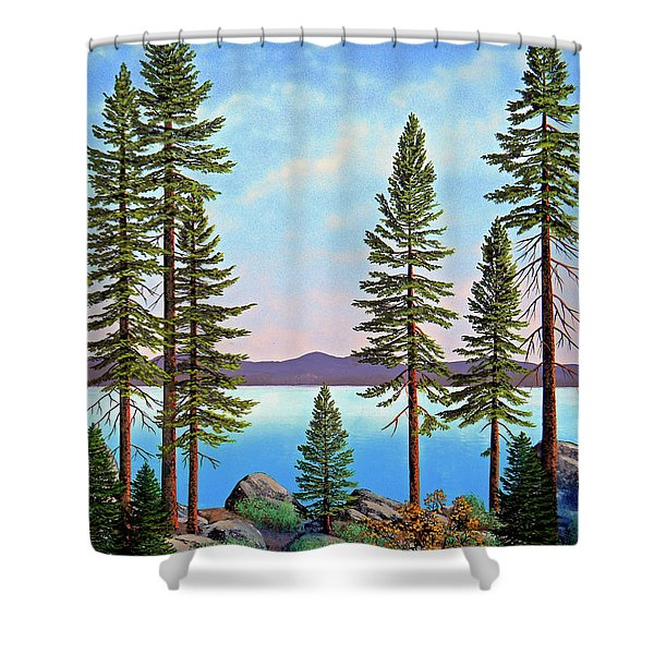 Tall Pines Of Lake Tahoe Shower Curtain