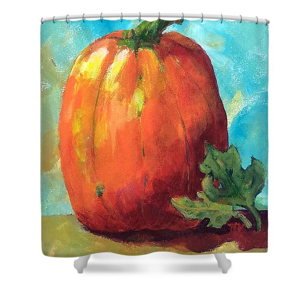 Tall Pumpkin Shower Curtain